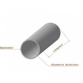 Tube rond Inox 304 L - Diamètre 25 x 1.5 mm  jusqu'à 3 mètres - Découpe offerte
