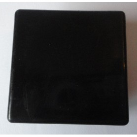 Embout carré à ailettes 60 x 60 plastique noir