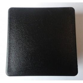 Embout carré à ailettes 80 x 80 plastique noir